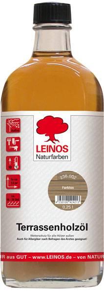 LEINOS Naturfarben Terrassenholzöl farblos 0,25L günstig bei DIE BIOBUDE