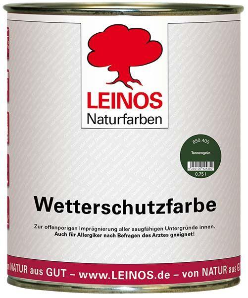 LEINOS Wetterschutzfarbe auf Ölbasis Tannengrün 0,75L günstig bei DIE BIOBUDE
