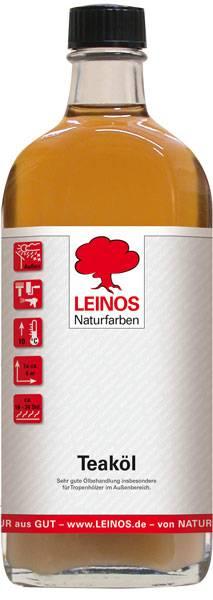 LEINOS Naturfarben Teaköl 0,25L günstig bei DIE BIOBUDE