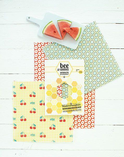 beeGoodies Bienenwachstuch 3er Set günstig bei DIE BIOBUDE
